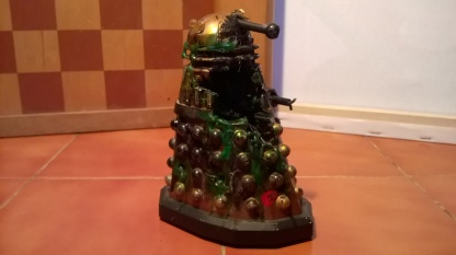 Custom destroyed Dalek with the mutant inside having escaped