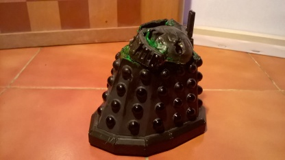 A Destroyed New Series Dalek Custom created in the style of the destroyed Renegade Dalek from Remembrance of the Daleks