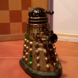 A custom Emperor's Guard Dalek with added damage