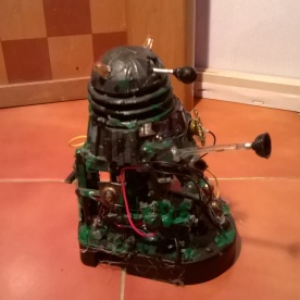 A custom Dalek Scavenger made from parts of other Daleks seen from above