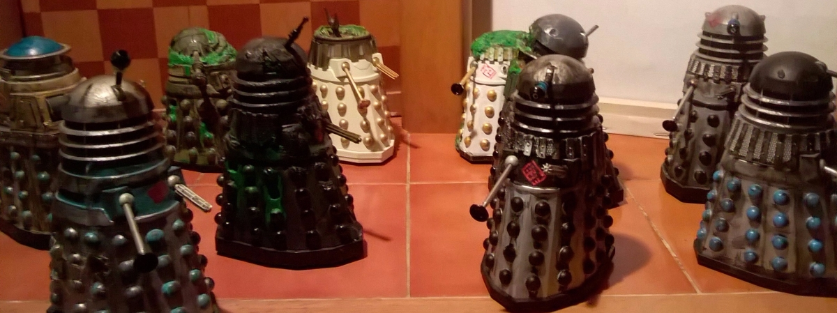 Classic Series Dalek Customs Collection Tour - Destroyed / Asylum Daleks
