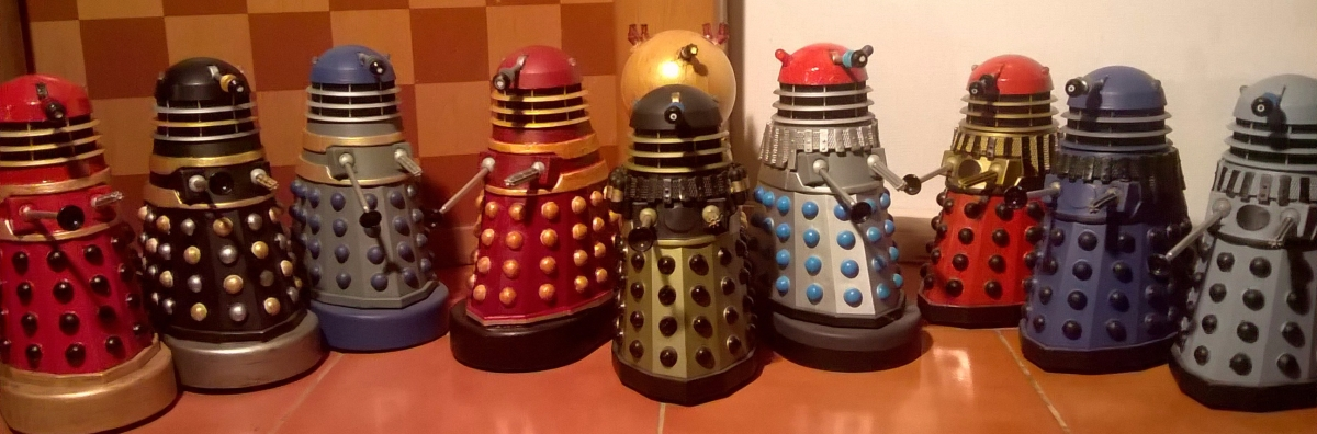 Classic Series Dalek Customs Collection Tour – Expanded Universe Customs