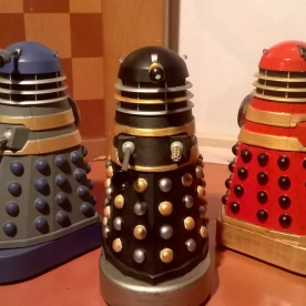 Classic Daleks in 60s Movie Colours