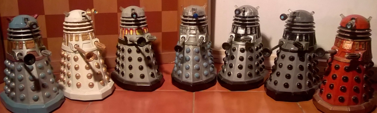 New Series Dalek Customs Collection Tour – New Series Daleks with Classic Colour Schemes