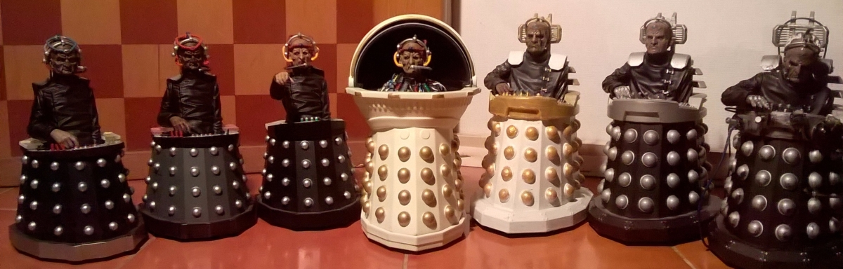 Classic and New Series Dalek Customs Collection Tour - Davros Customs
