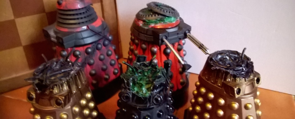 New Series Dalek Customs Collection Tour – More Destroyed Daleks