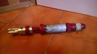 Custom Red Laser Screwdriver Back View