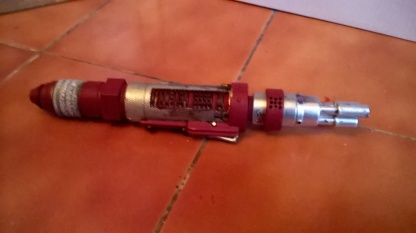 Custom Red Laser Screwdriver Retracted