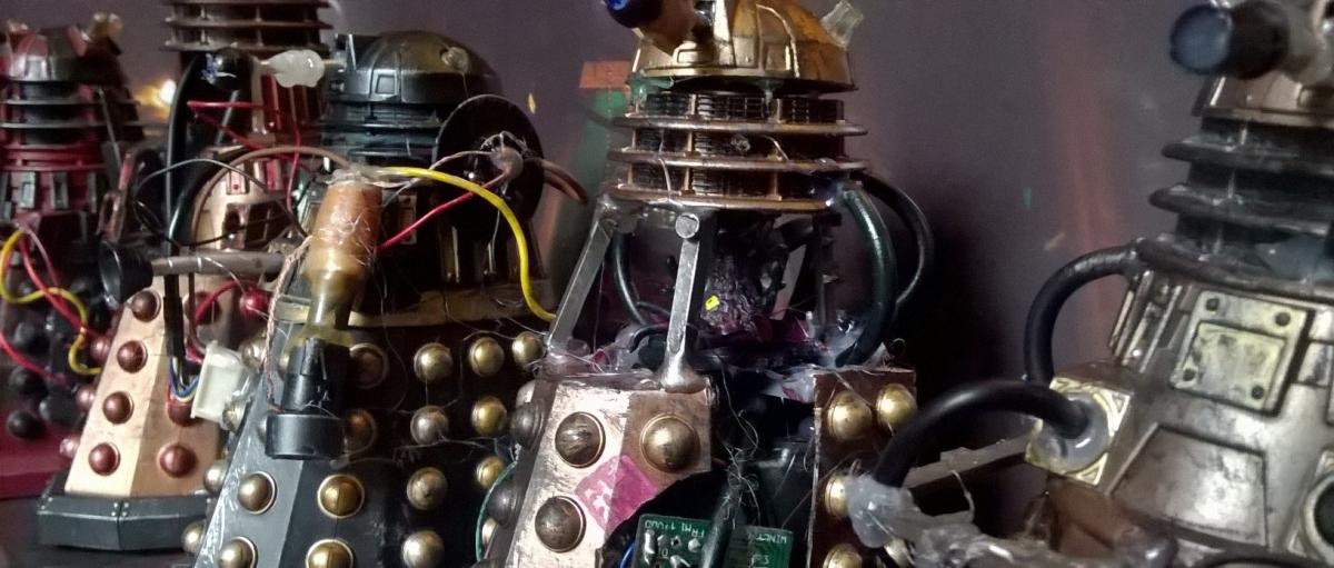 New Series Dalek Customs Collection Tour – Intensive Care Asylum Daleks Part2