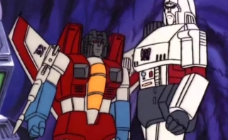 Starscream is as treacherous as ever in G1, but is he as well-established in the movies? The short answer is no, the long answer can be found at Sacred Icon