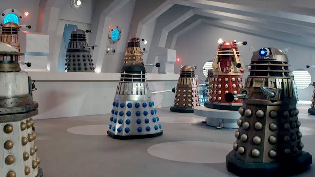 Classic and Modern Daleks work together on Skaro
