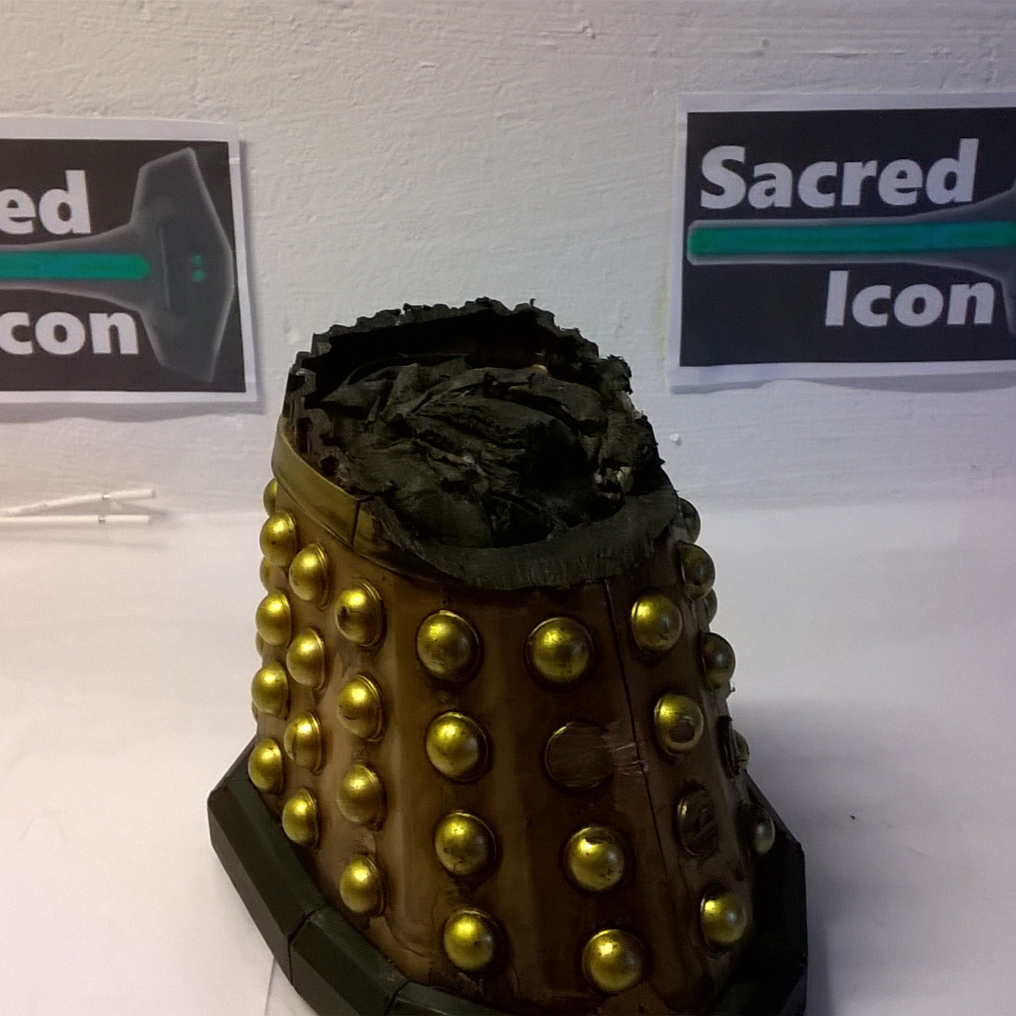 Custom Destroyed Time War Dalek with the top blasted off