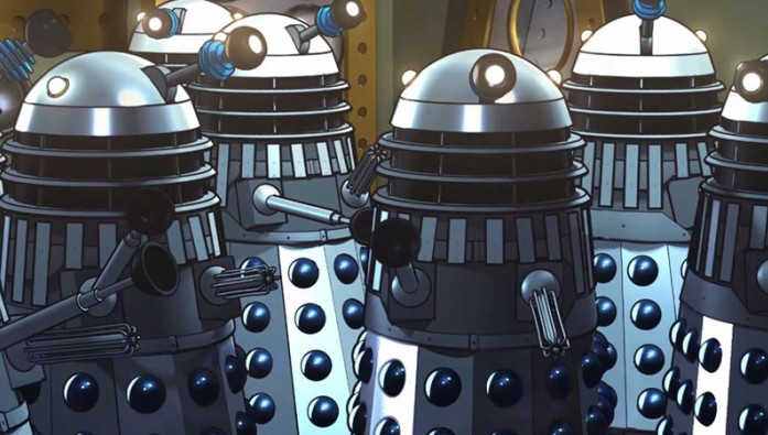 Animated Daleks from The Power of the Daleks